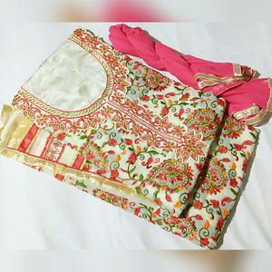 embroided georgette