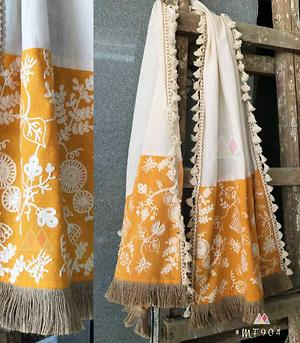 cotton duppatta with embroidery work