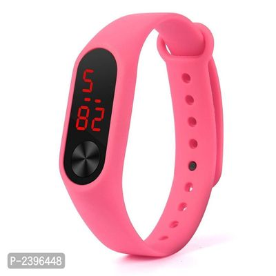 Pink Unisex Rubber Band Watch