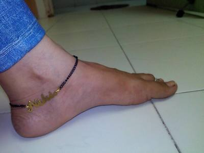 customized name anklet