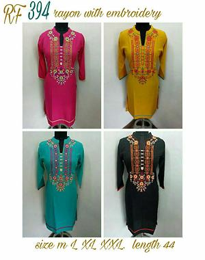 Rayon embroidery
