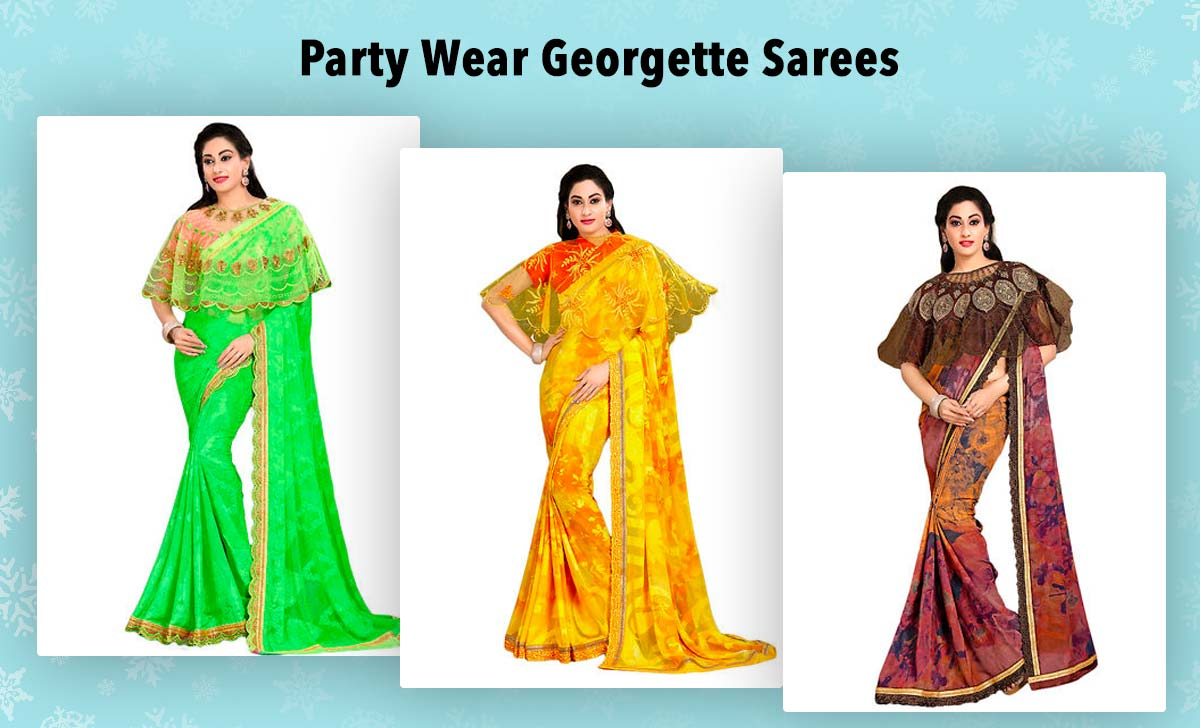 party-wear-georgette-sarees