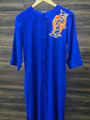 Blue shirt style kurti