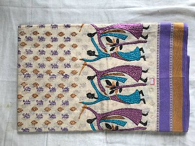 Bengal cotton with embroidery work