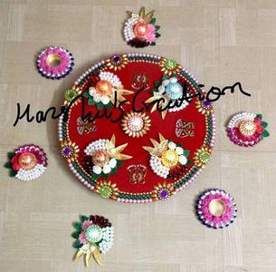 Designer Aarti plate