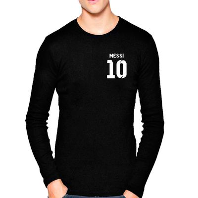 Black Lionel Messi Football Jersey 10 Design Graphics Print T Shirt
