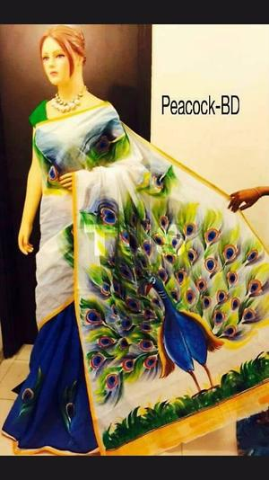 kerala cotton hand painted collections