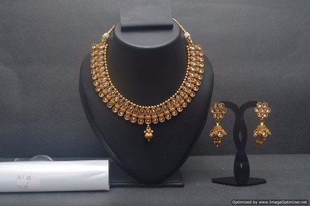 Bollywood Indian Polki Necklace