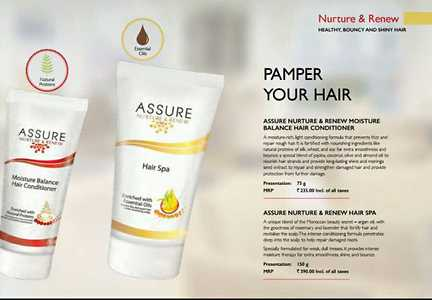 Nurture and renew to get healthy,bouncy and shiny hair