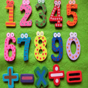 WOODEN NUMBER FRIDGE MAGNET SET OF 10