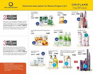 Oriflame welcome program gifts