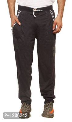 Grey Stylish Cotton Track Pant For Men