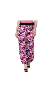 Multicoloured Polyester Blend Harrem Pyjama
