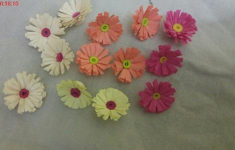 Quilling paper flower for craft work 10 pairs