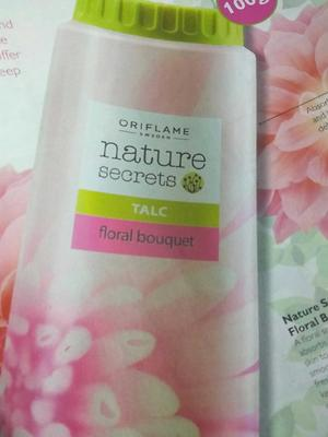 nature secret talc floral bouquet(oriflame)