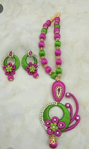 Handmade Silkthread Jewels at reasonable rates..