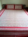 Best quality Red hand block double bedsheet