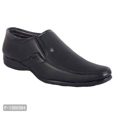 Black Solid Slip-On Shoes