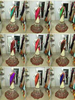 Designer saree  Fabric- Georgett  Embroidery - work  New price-999₹~  Single/set Available