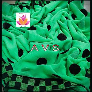 Green Marble Chiffon Saree with blouse