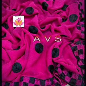 Pink Marble Chiffon Saree with blouse