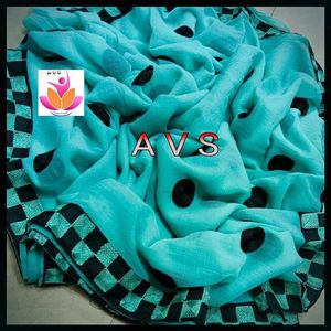 Sky Blue Marble Chiffon Saree with blouse