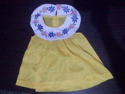 yellow hand painted frock