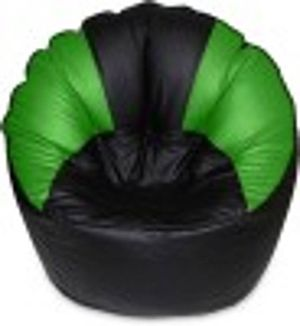 Akhilesh bean bags  & furniture mudda chair cover without beans black green