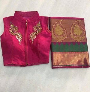 Sarees with full stiched lowse