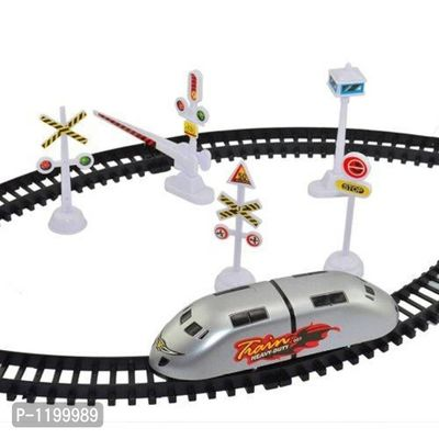 High Speed Metro Train With Track & Signal Accessories Battery Operated