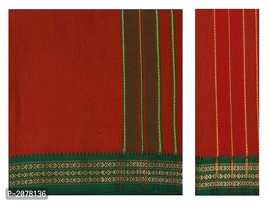 Cool Cotton 4mts Dhoti with Towel Brown