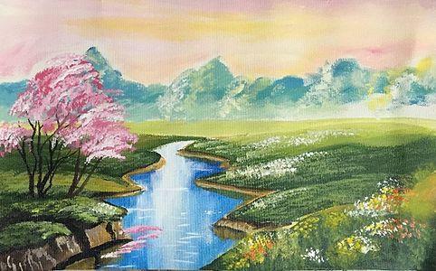 Landscape colorful view