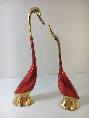 Brass Swan - Set of Two