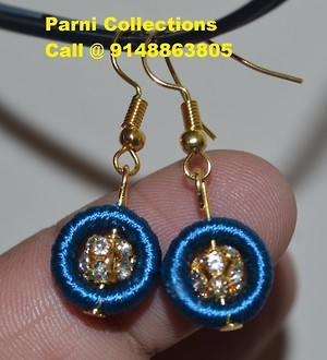white stone ball earrings