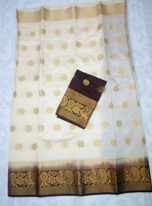 ​Mahalakshmi sarees​  sellers broadcast message  Tusser  silk sarees, Contrast blouse Ready to dispatch.  Tsw