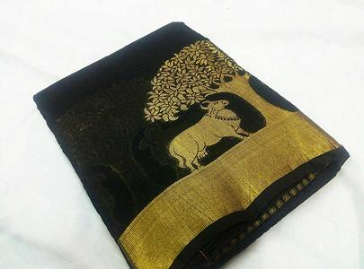 *Mahalakshmi sarees*  sellers broadcast message Fancy cotton sarees, Running blouse  Ready to dispatch.  Tsw
