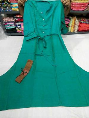 flex fine cotton kurti with 2 belt one normal one elastic size 42 and 44  Atc