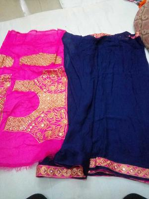 chk avblity bfee payment 📢📢📢BROADCAST📢📢📢  *Viscose Georgette saree with heavy wirk dupion Silk blouse*     Nc