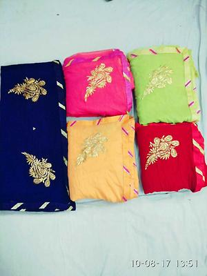 💞💞💞BROADCAST💞💞💞  *Pure georgette pitten work butti saree with running blouse*  Nv