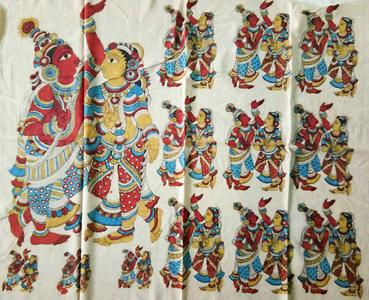 Cotton Kalamkari Pallu