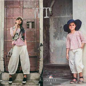 Mom and daughter linen collections