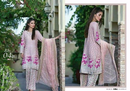 Pink Embroidered Lawn suit