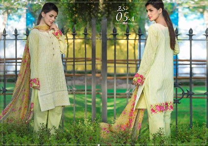 Pakistani embroidered lawn suit
