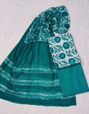 cotton to,bottom &chiffon dupatta