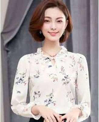 Floral Top With Drawing
