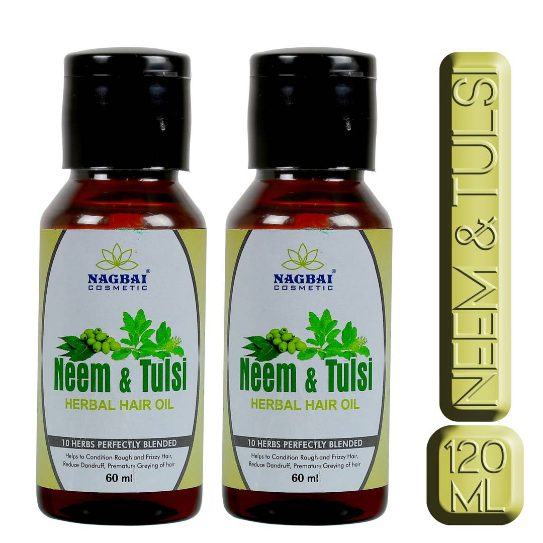 Neem Tulsi Herbal Hair Oil For Hair Growth With 45 Natural Oils