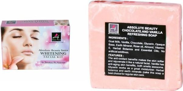 ABSOLUTE BEAUTY WHITENING FACIAL KIT WITH CHOCO VANILLA SOAP FREE
