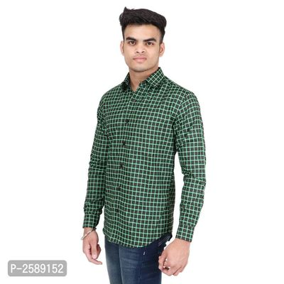 Multicoloured Checked Cotton Regular Fit Long Sleeves Casual Shirt