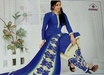 Synthetic unstitched Salwar material