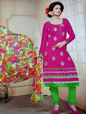 cotton unstitched Salwar material